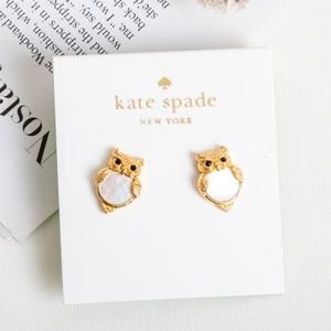 Kate Spade Into the Woods Owl Earrings
